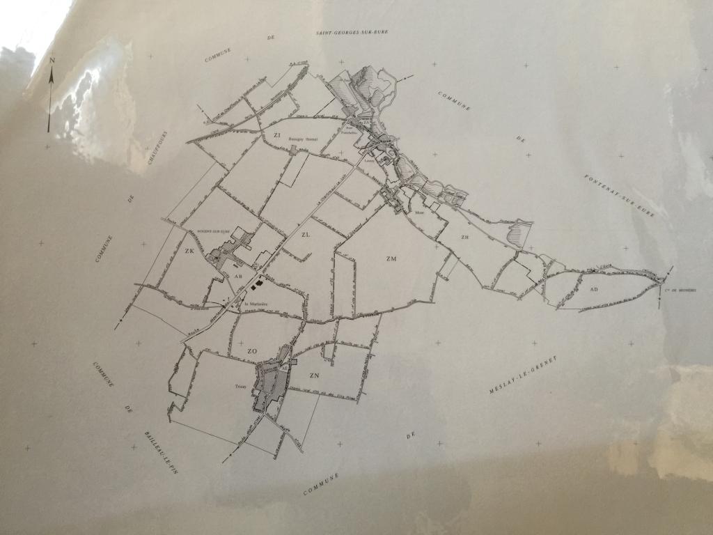 Plan de Nogent-sur-Eure de 1957