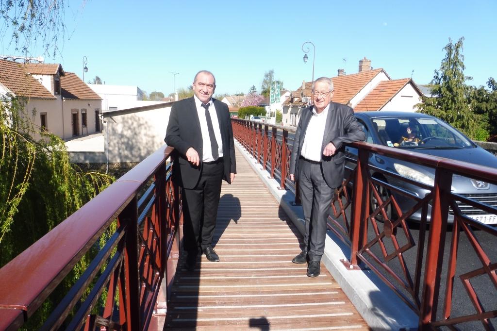 Ouverture de la passerelle à Pont-Tranchefêtu